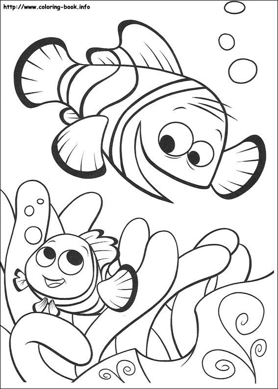 Finding Nemo Coloring Page Finding Nemo Coloring Pages Nemo