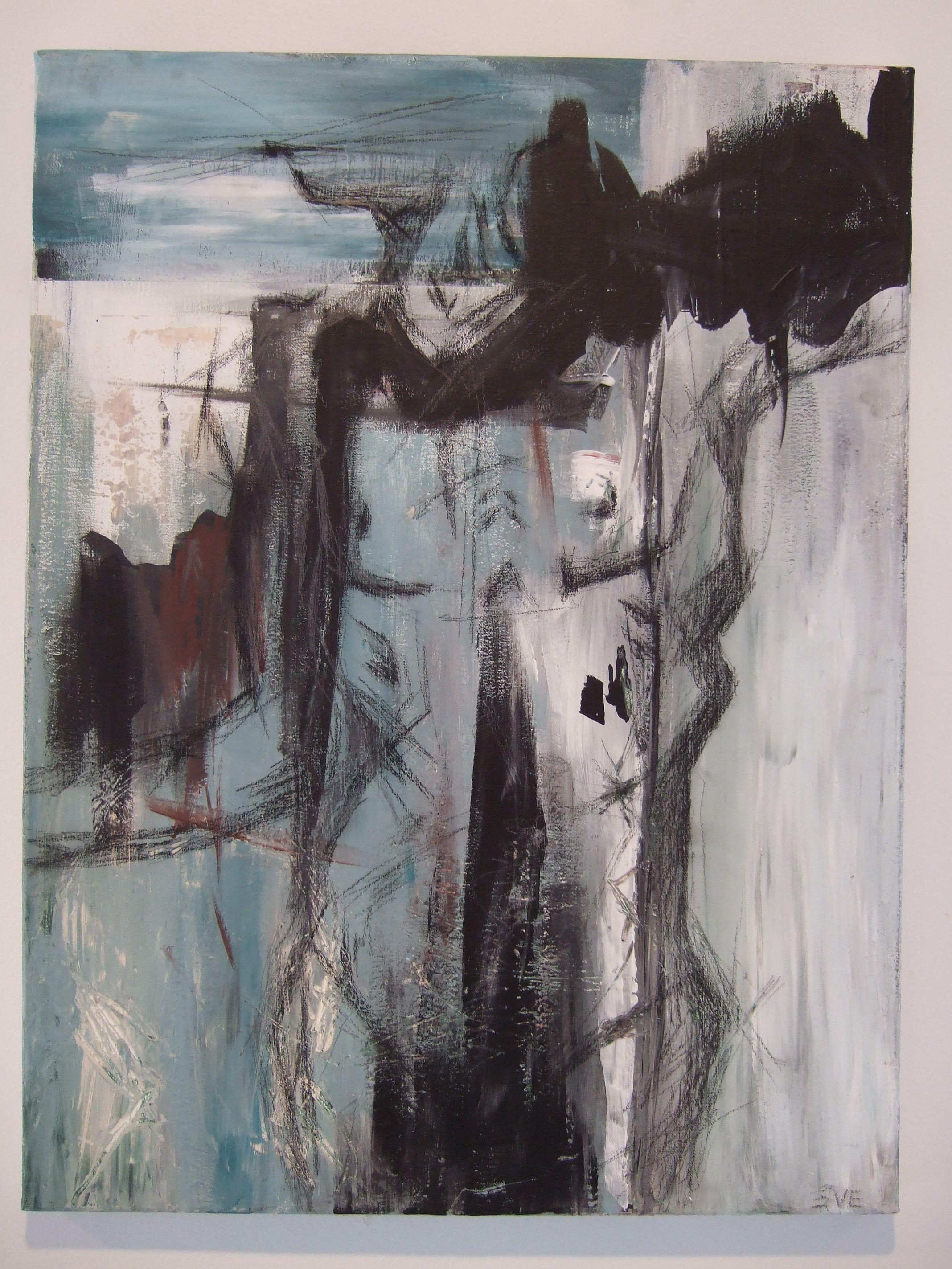 Marie-Ève Crépeau, Un moment d'attente crayon de plomb et acrylique, 1'6'' x 2' Prix : 120 $