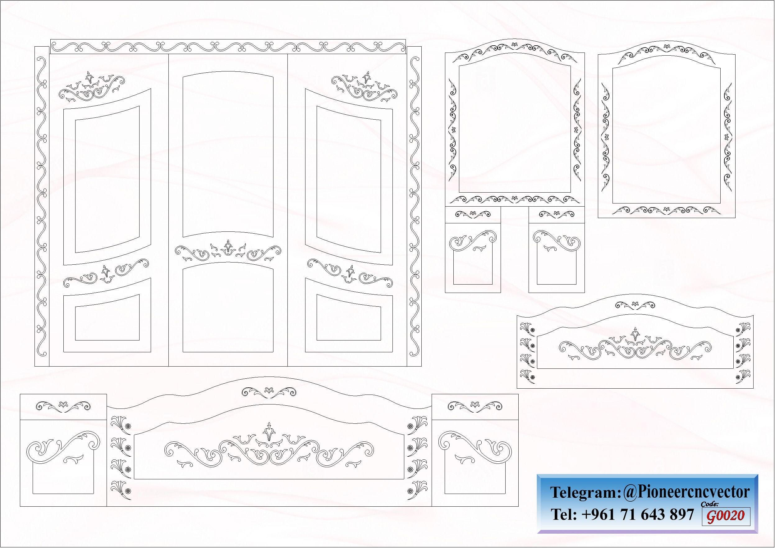 تصاميم غرف نوم للبيع G0020 Bullet Journal Floor Plans Diagram