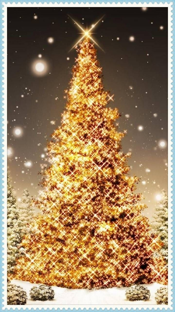 Download christmas tree stamp wallpaper by bobeem1315 ad