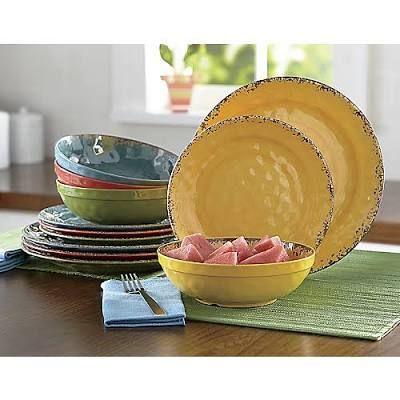 Melamine Crackle Swirl Dinnerware Set - Home Decor  sc 1 st  Pinterest & 12-Piece Melamine Crackle Swirl ... | Lake Cabin | Pinterest | Lake ...