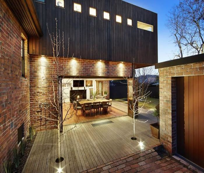 Exposed Brick Walls Timber Cladding 1930s Style And A