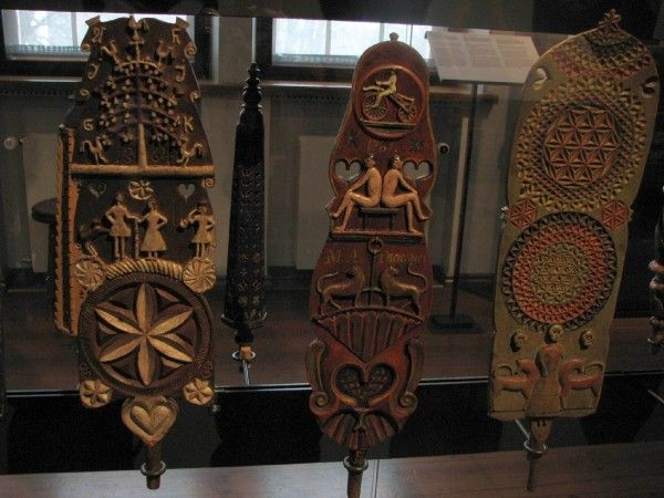 Distaves from a museum in Finland