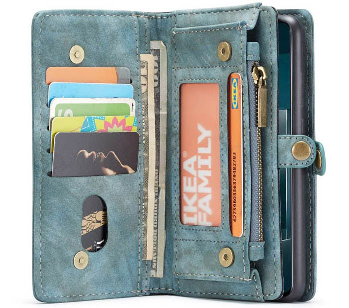 CaseMe Samsung Galaxy A51 Wallet Magnetic Detachable Case Blue