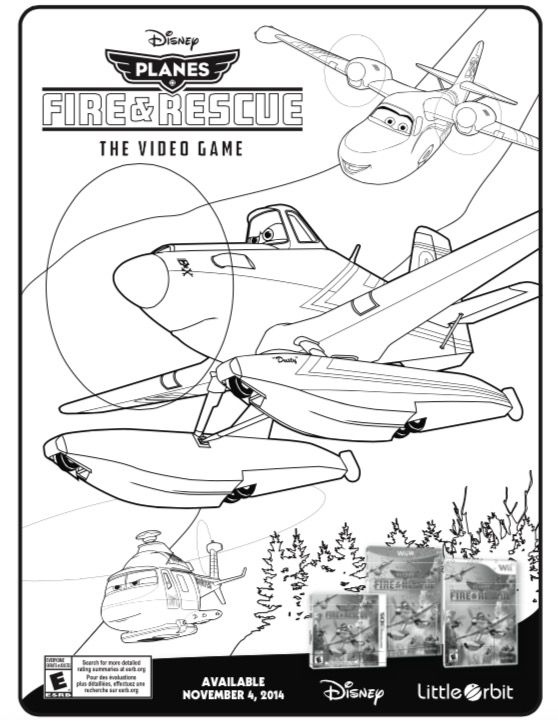 Disney\'s Planes: Fire & Rescue Video Game Coloring Pages | Disney s ...