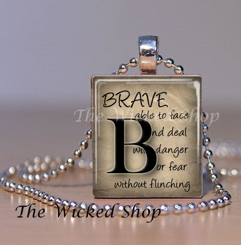Scrabble tile jewelry scrabble tile pendant necklace definition items similar to scrabble tile jewelry scrabble tile pendant necklace definition of brave letter b scrabble tile art inspbrave on etsy aloadofball Image collections