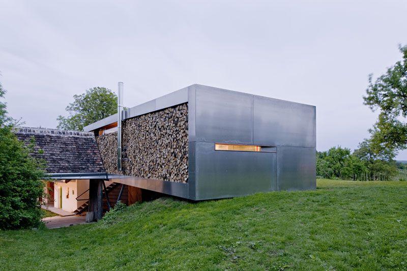 Moderner Anbau moderner anbau mit stahl glas und holzoptik daham inspiration