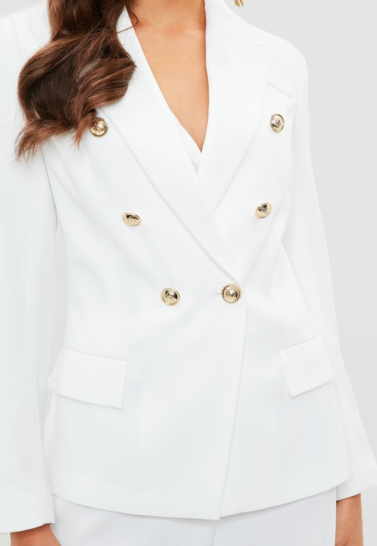 51c0ff0b46248 White Military Blazer | F A S H I O N | Jackets, Blazer, Jackets online