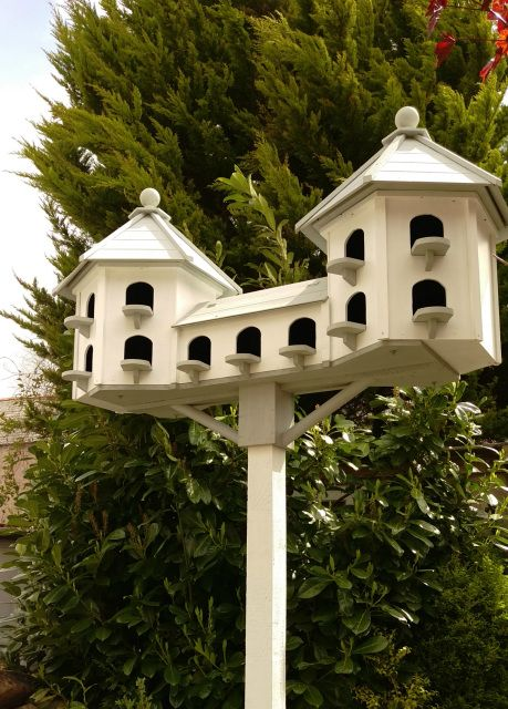 Beautifully Hand Crafted Post Mounted Dovecotes And Wall Mounted Dovecotes.Free U.K Delivery