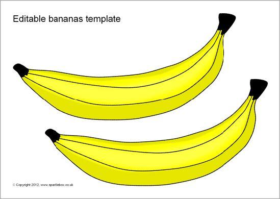 graphic about Banana Template Printable called Editable bananas template (SB7966) - SparkleBox Area strategies