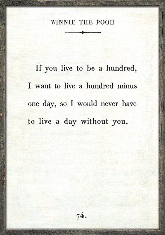Winnie The Pooh Quote Vintage Art Print With Grey Wood Frame Words Amazing Love Quote Picture Frames