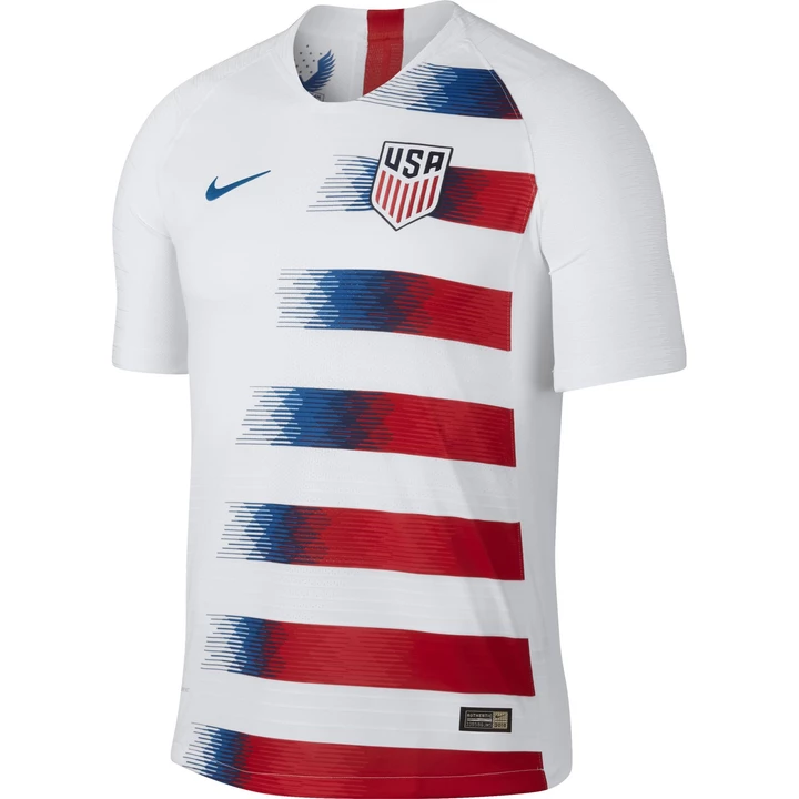 U S Soccer Men S Nike Usa 2018 2019 Stadium Home Jersey Usa Soccer Jersey Soccer Jersey Cycling Jersey Design