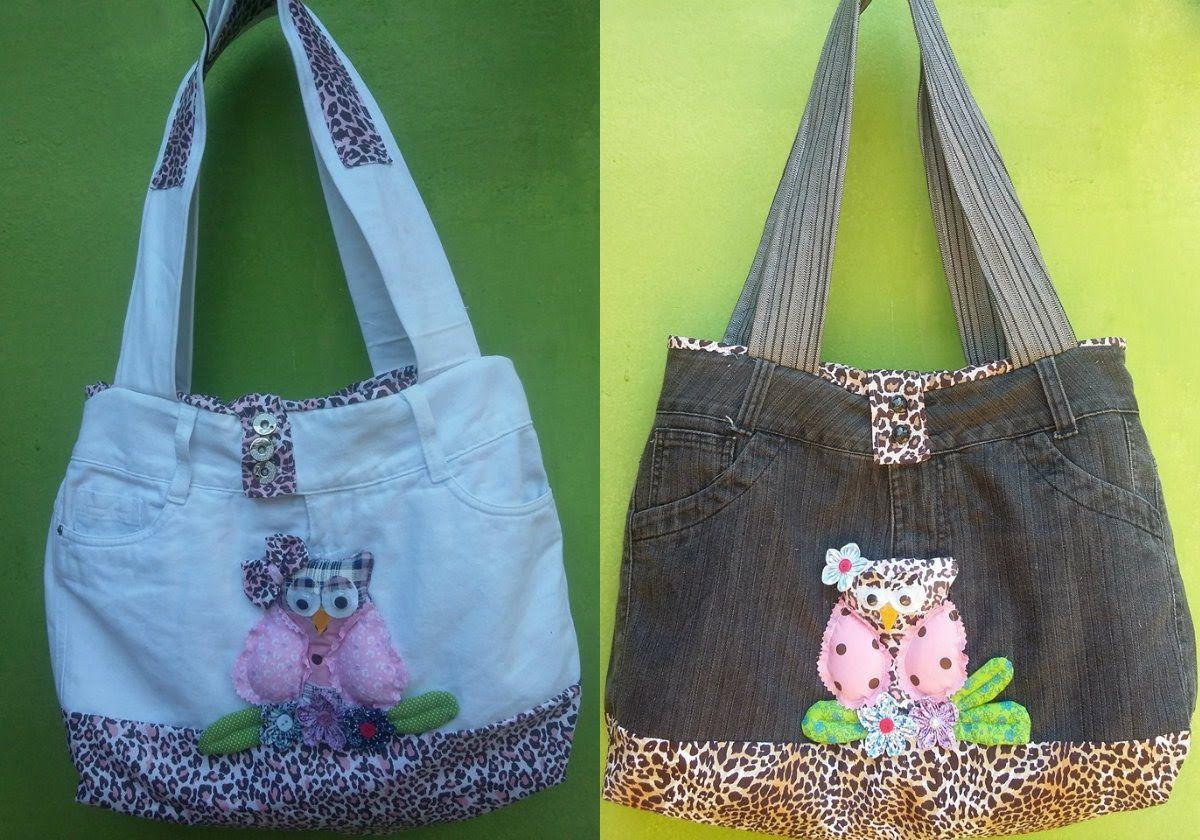 Bolsa De Tecido Jeans Como Fazer : Como fazer bolsa com cal?a jeans how to make a bag using