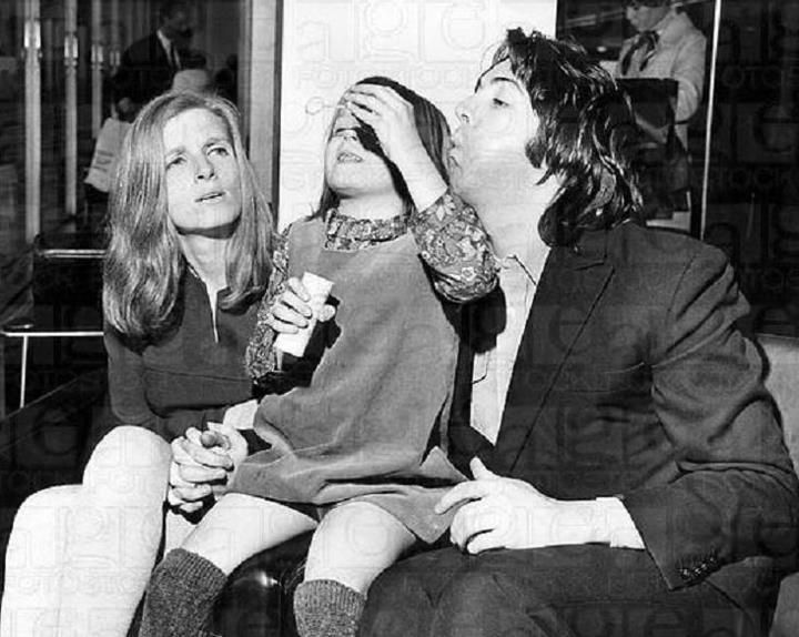Linda Heather And Paul McCartney March 12 1969 Their Wedding Day