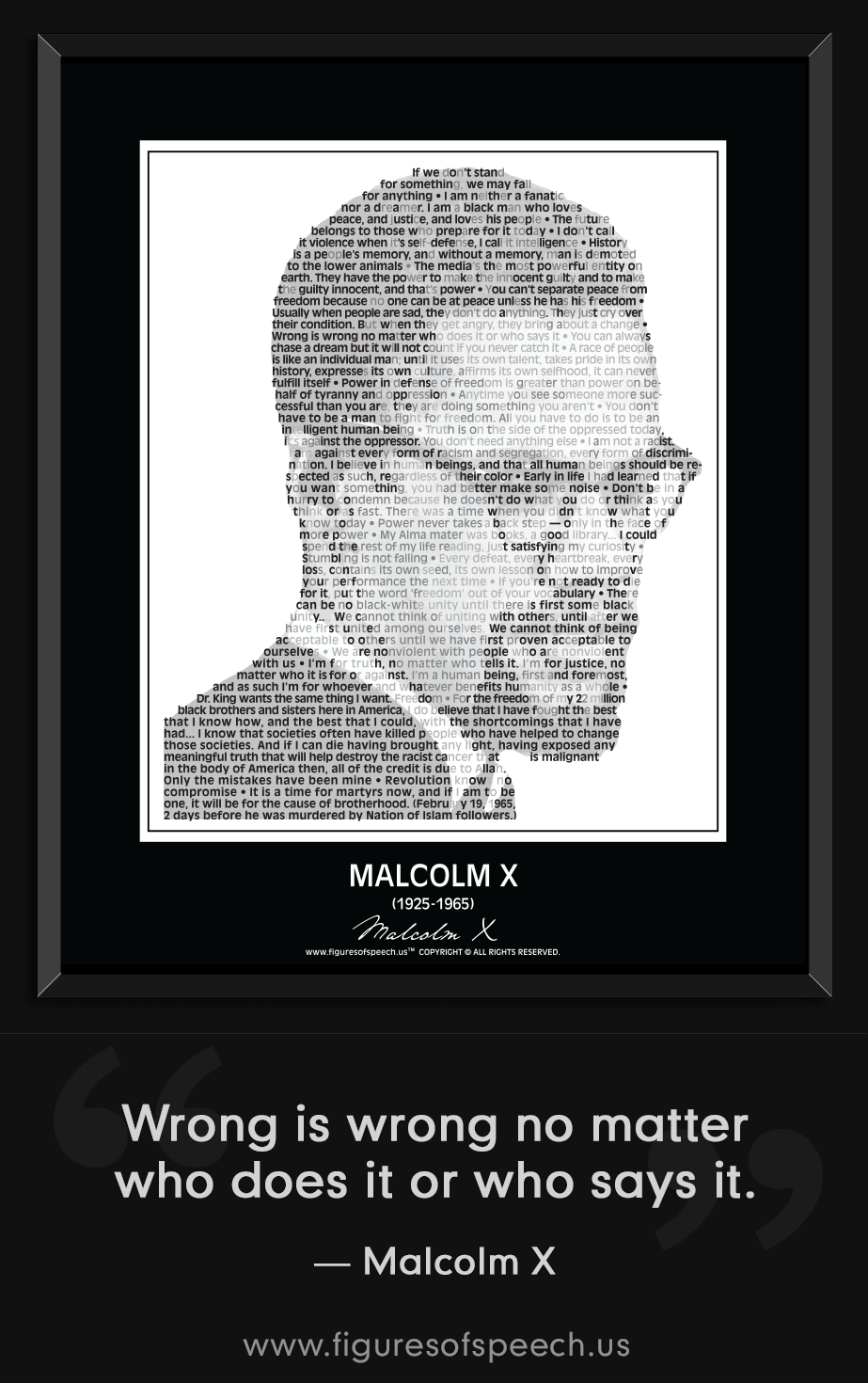 Art Print POSTER Malcolm X with Daughter Ilyasah