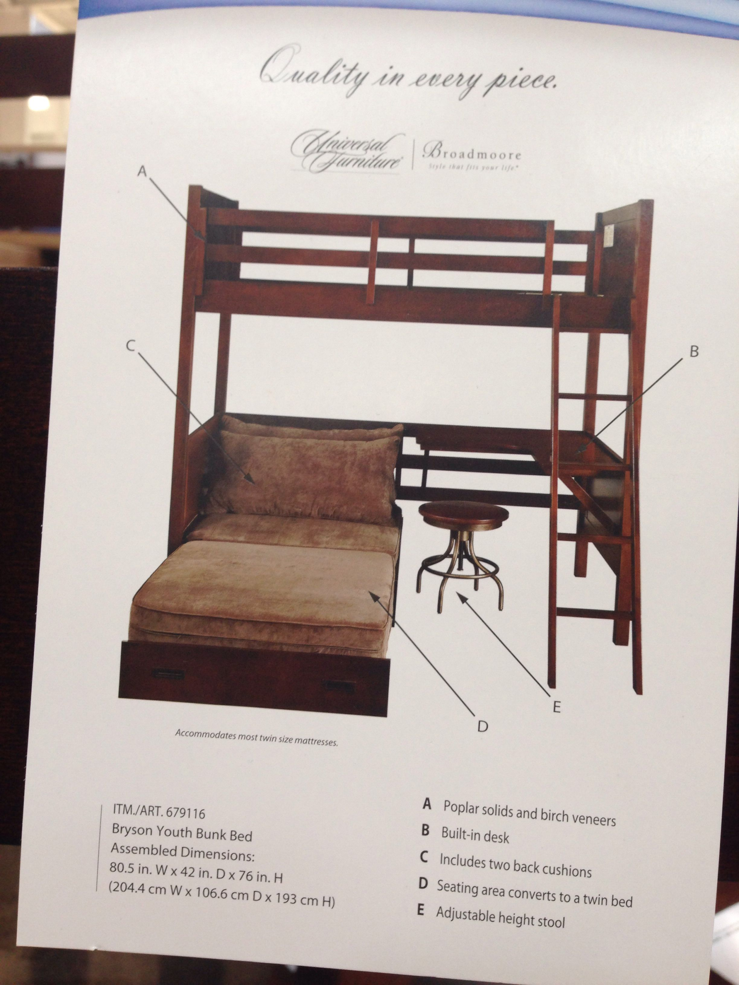 Bryson Youth Bunk Bed 999 99 Bunk Beds Twin Bunk