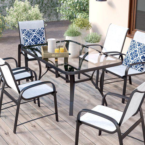 Dereham Outdoor 3 Piece Bistro Set With Cushions Porch Furniture