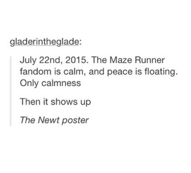 I literally just dropped my iPad This is so true Maze runner - denial letter
