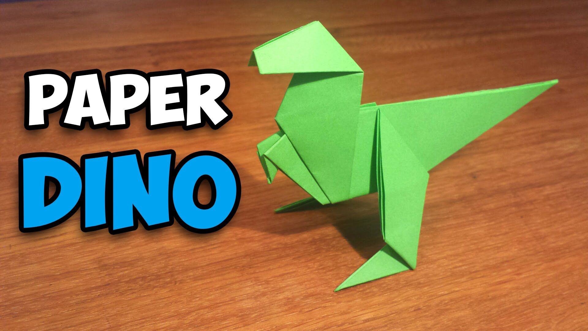 how to make an easy origami dinosaur in this tutorial ill