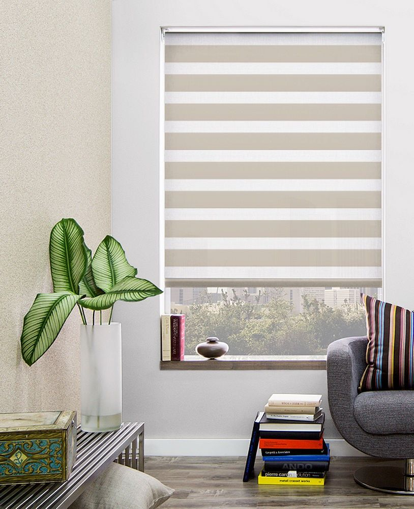 Custom Double Roller Shades Material Catalina Color Sand By The Shade Store The Shade Store Custom Roller Shades Modern Roller Shade
