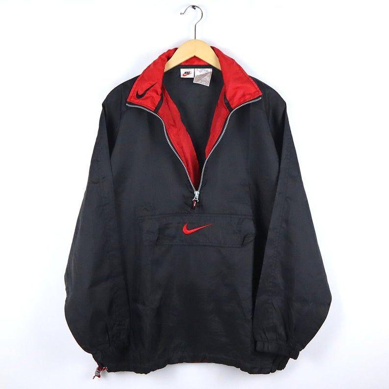 Vintage 90 S Nike Nike Windbreaker Jacket 90s Nike Windbreaker Half Zip Pullover