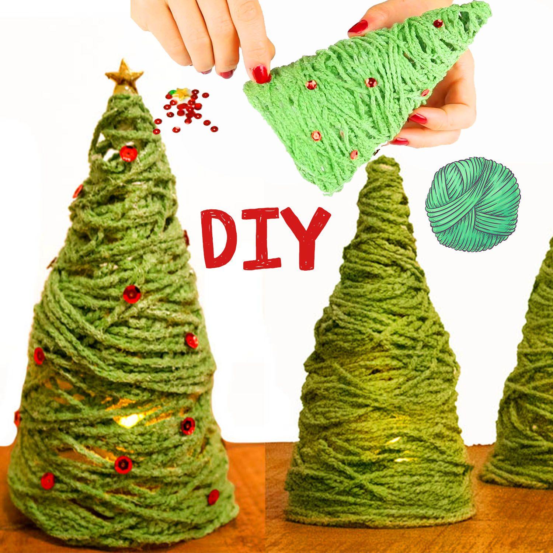 🎄Weihnachtsbaum aus Wolle basteln 🎄 DIY für Kinder – Einfache Bastelanleitung für Weihnachten