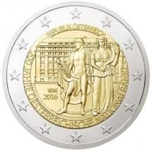 2 Euro 200 Jahre Oesterreichische Nationalbank Euro Coins Old