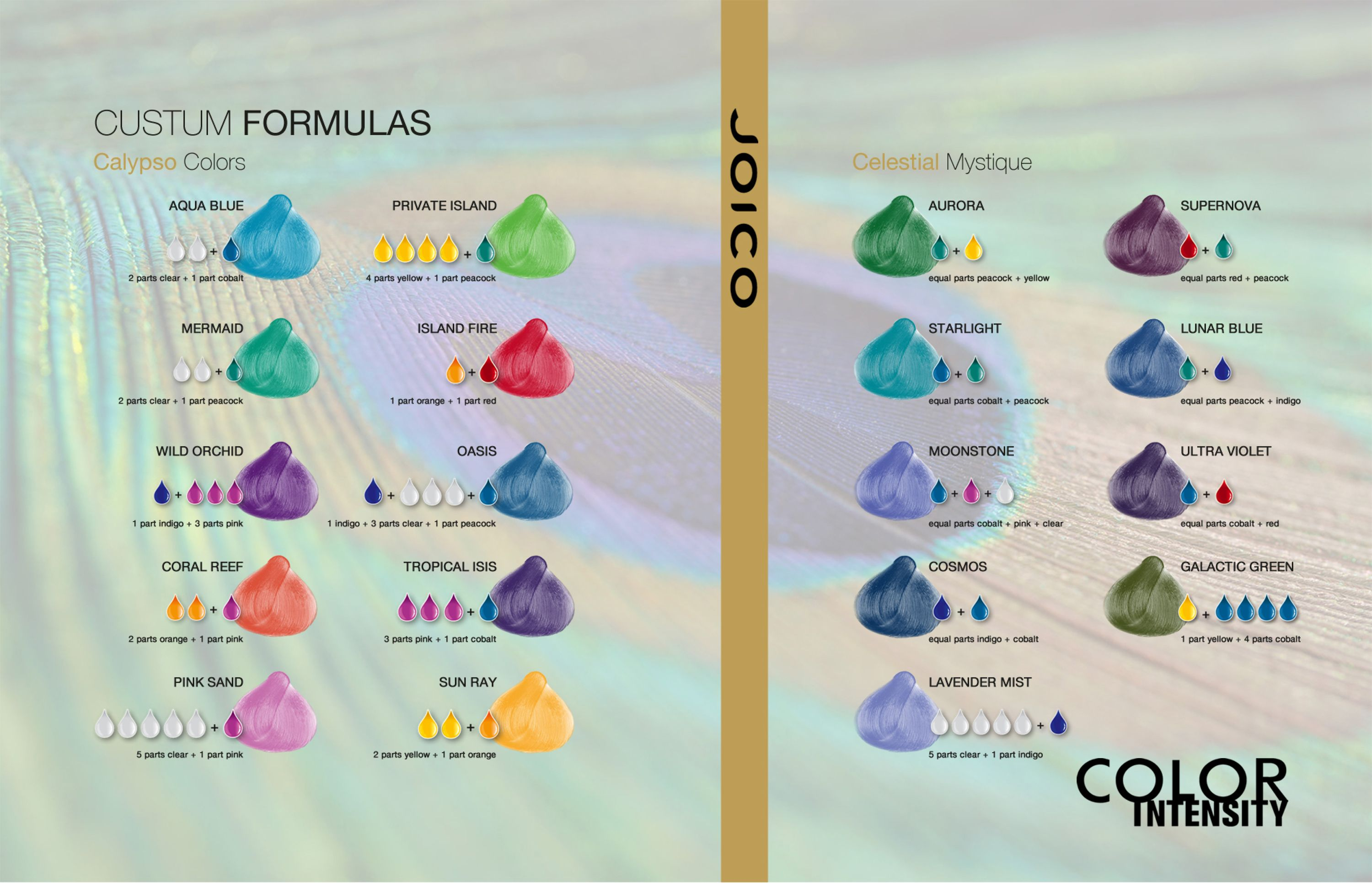 Joico Vero K Pak Color Intensity Calypso Colors Celestial Mystique Shade Chart Hair Dye Colors Joico Color Hair Color