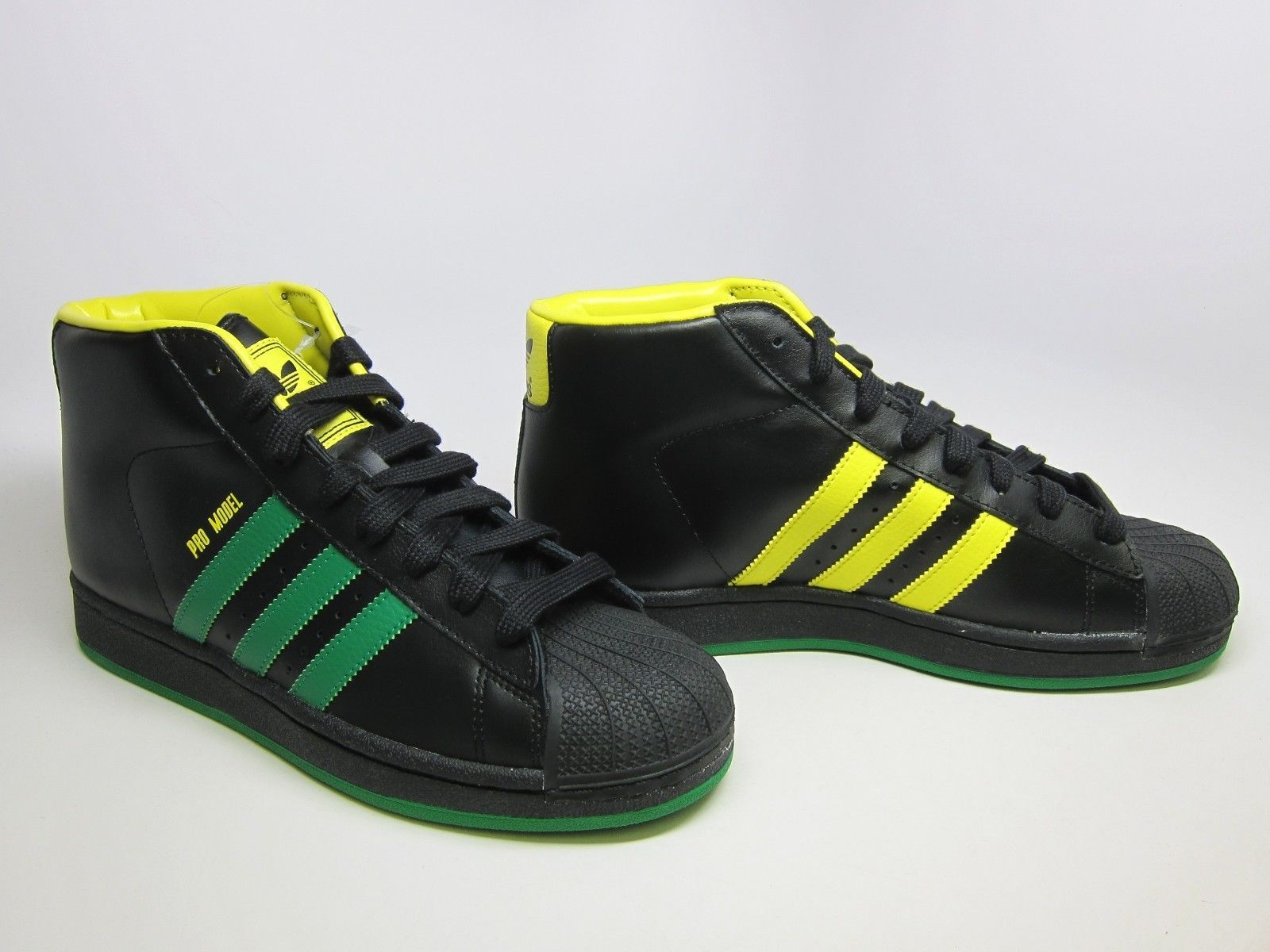 ADIDAS ORIGINALS PRO MODEL BLACK GREEN YELLOW S84285