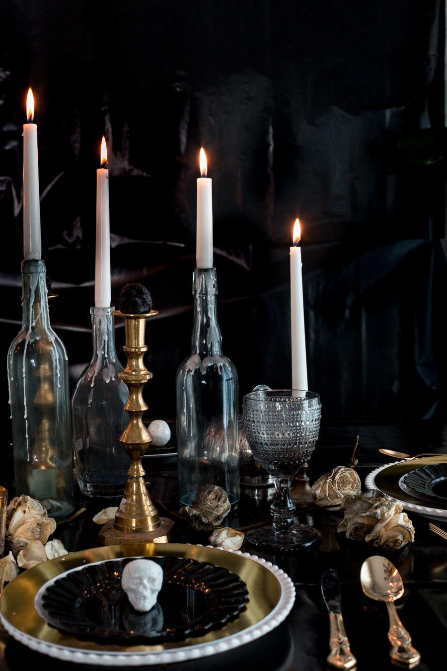craftberry bush | elegant halloween table | http://www