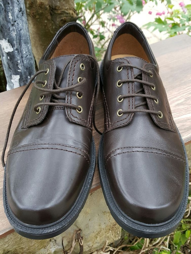 Clarks Men's collection 9G Leather Lace-up New Shoes Cushion Cell Brown # Clarks #