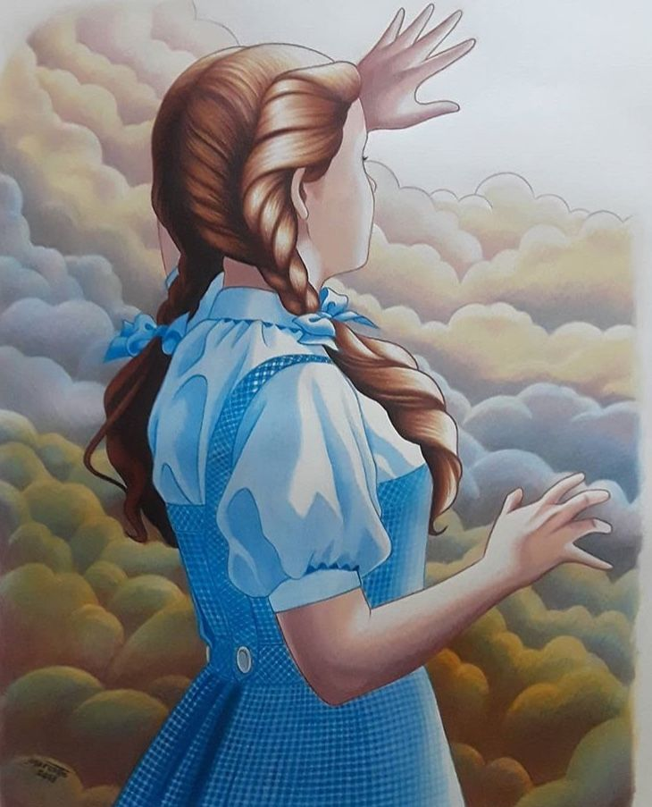 Dorothy in the land of oz from the wizard of oz the