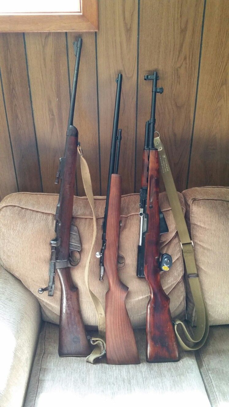 Lee Enfield SMLE No1 MK3, Cooey Model 60 repeater, SKS 45