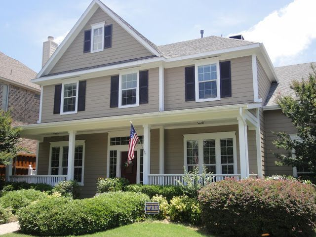 home exterior in sherwin williams perfect greige - Google Search ...