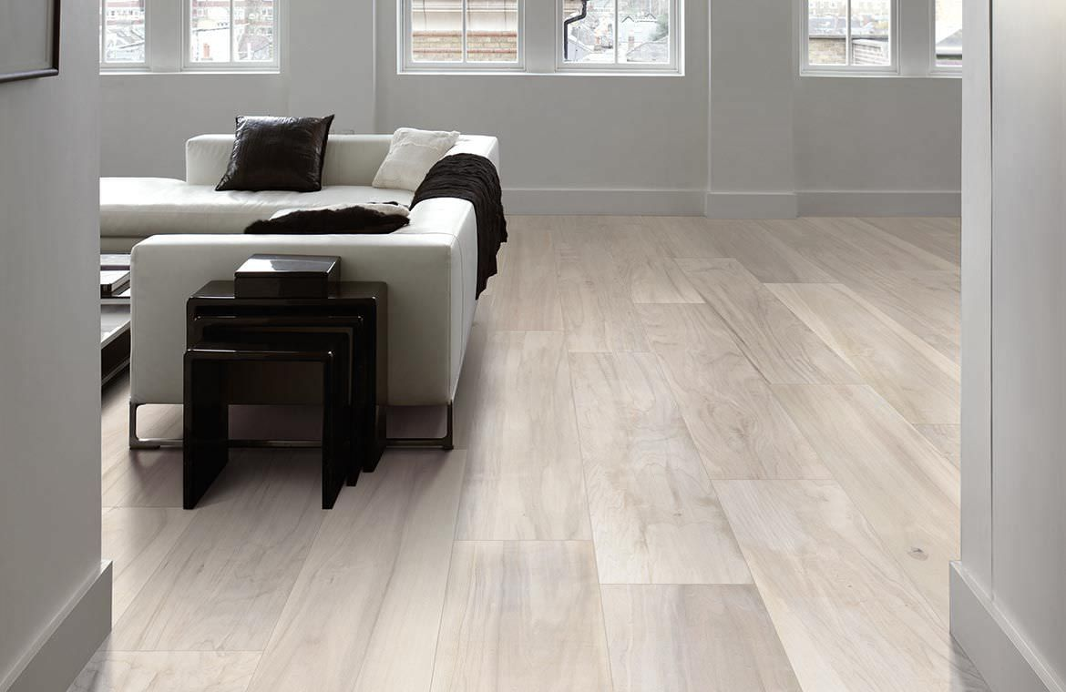 Floor Tile Ceramic Wood Look Millelegni White Toulipier