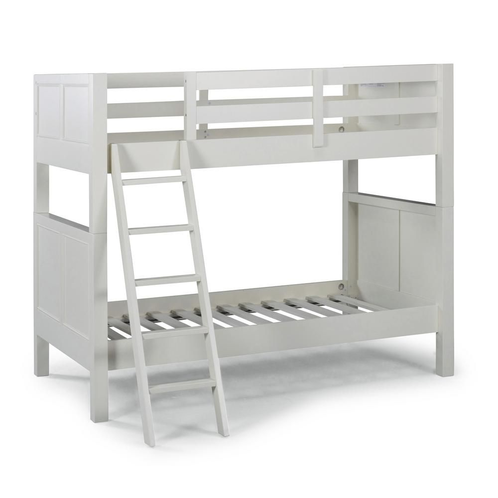 Homestyles Naples Off White Twin Over Twin Bunk Bed In 2020 Twin