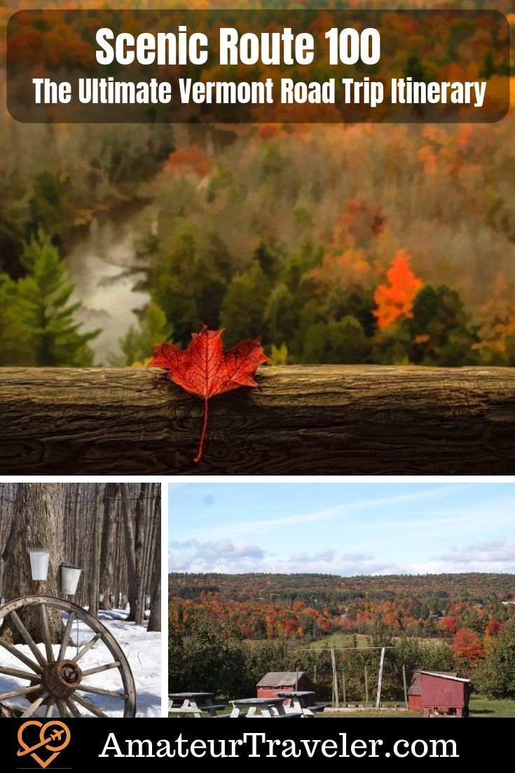 Vermont Route 100: The Perfect Sceneic Road Trip Itinerary #autumnfoliage
