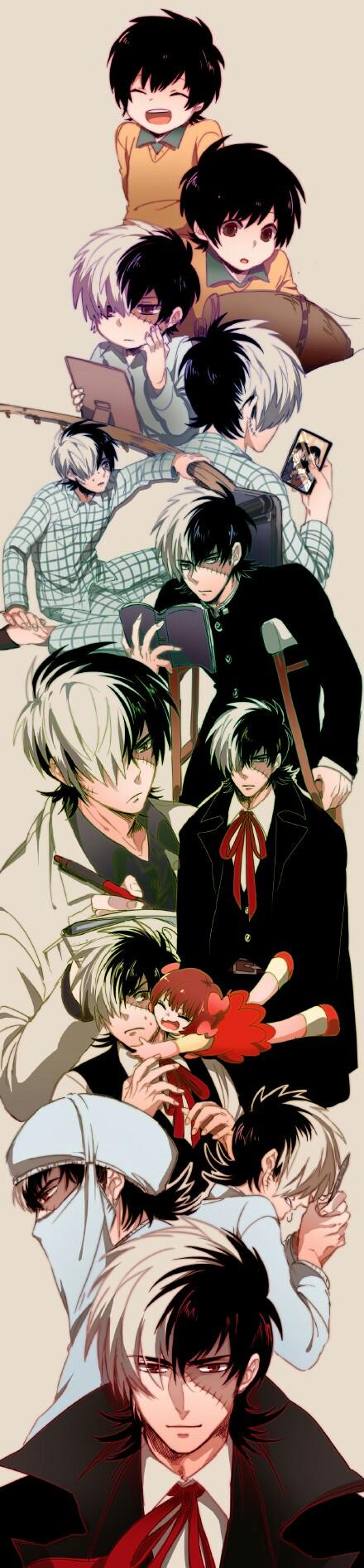 Hazama Kuroo (with Okamato Maiko) Young Black... Black