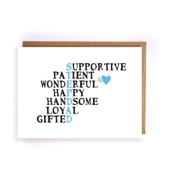 Card For Stepdad Fathers Day Step Dad Funny Greeting Cards Birthday Bonus GC229 By ArtRuss On Etsy