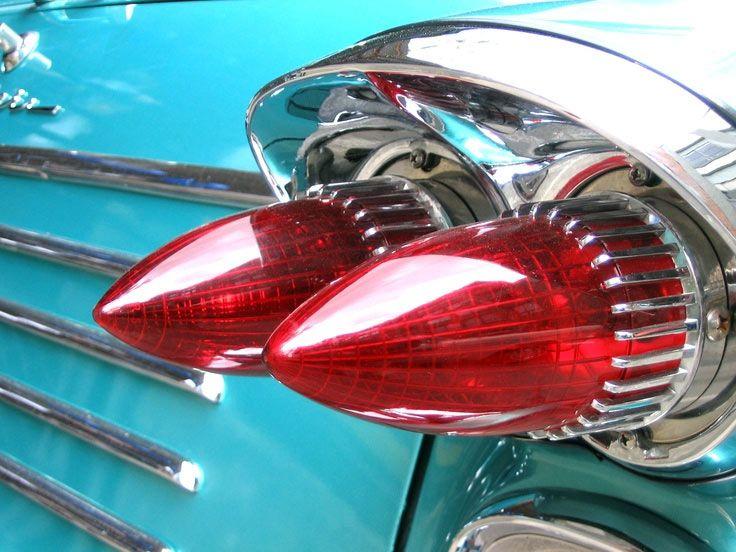 1958 Pontiac Pathfinder Cone Tail Lights #1950s #vintage #cars
