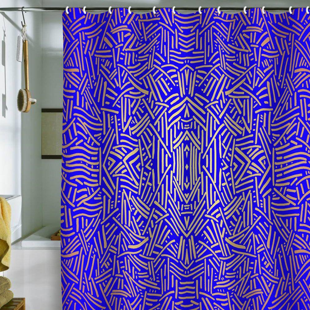 Jacqueline Maldonado Radiate Gold Royal Shower Curtain