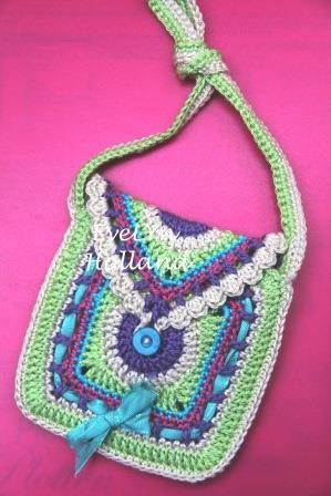 Haken und Perlen: Kleine Tasche für ein kleines Mädchen | Für Kinder ...