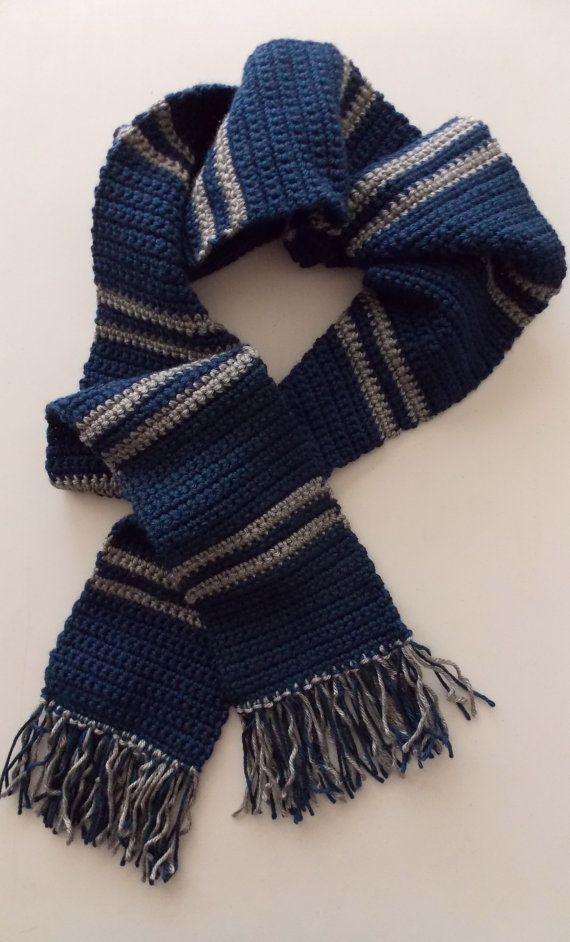 Blue Silver Striped Scarf Costume Scarf Cosplay Scarf