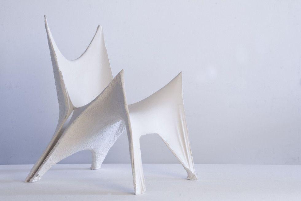 gypsum chair by Maarten Schenkeveld