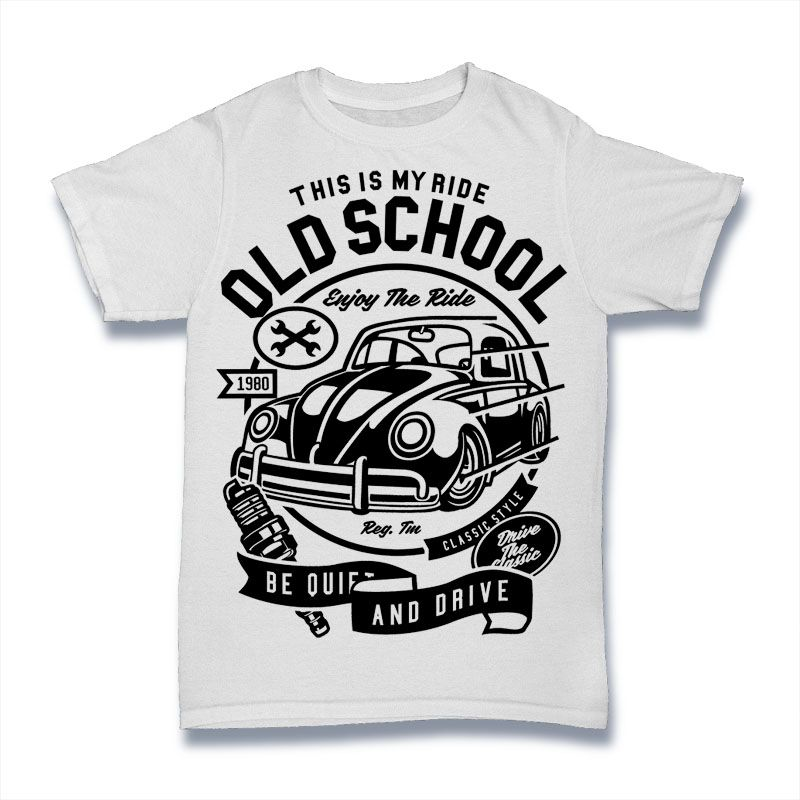 Old School Ride buy t shirt design | Tshirt designs | Pinterest ...