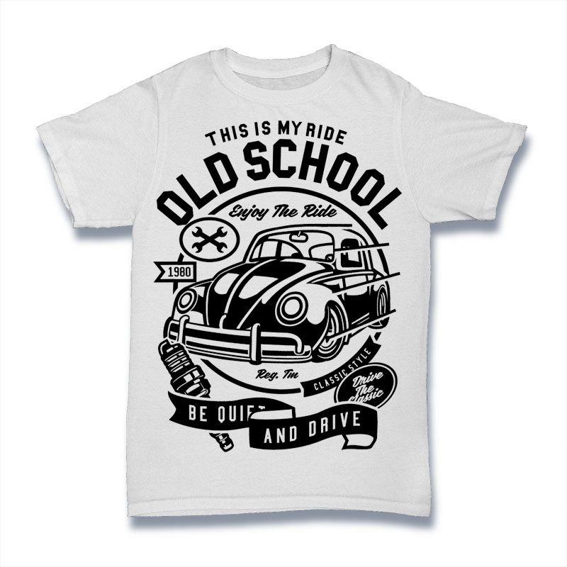 ae6ee390 Old School Ride buy t shirt design | Tshirt designs in 2019 | Best t ...