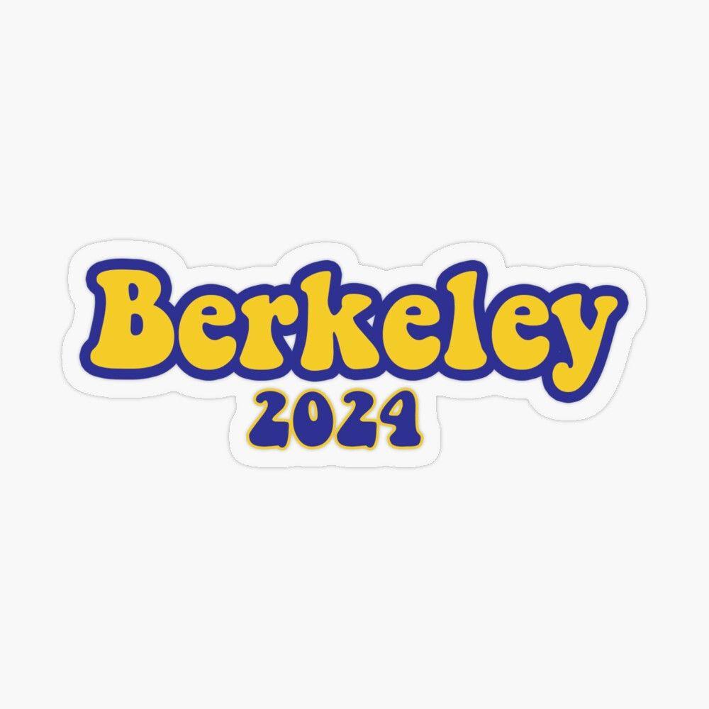 Berkeley 2024 Transparent Sticker By Sarah Johnson Berkeley Stickers Transparent Stickers [ jpg ]
