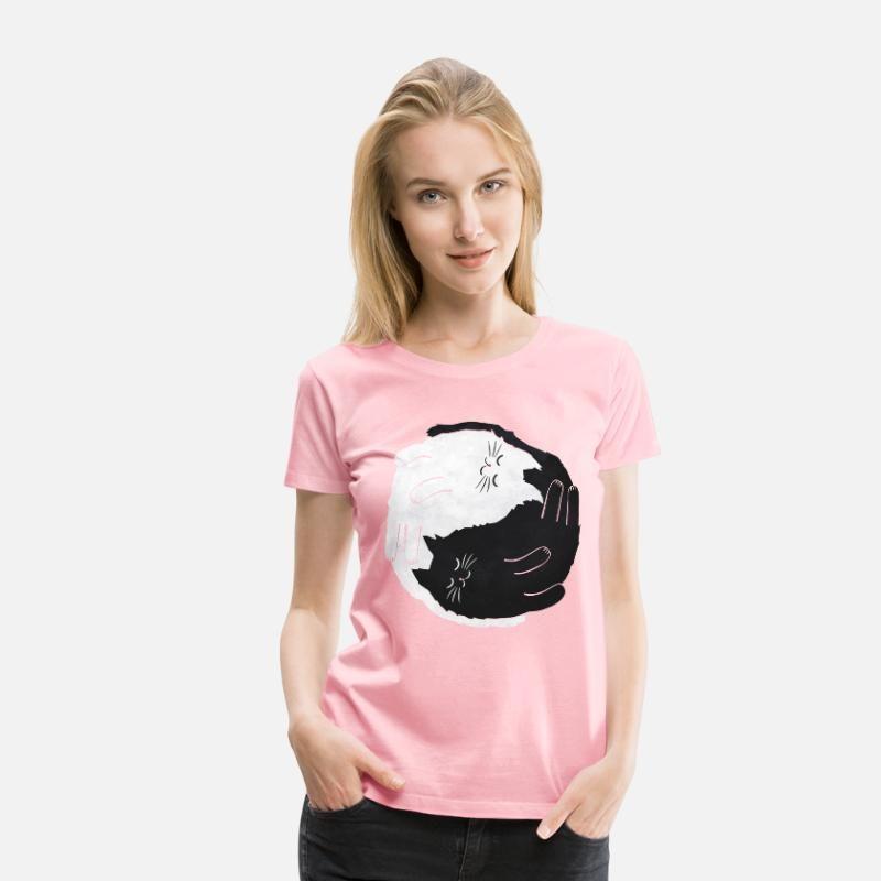 Yin /& Yang Katzen Frauen T-Shirt von Spreadshirt®