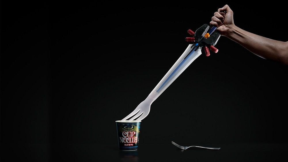 A 24 inch long gigantic fork based off of FFVII's Ultima Weapon for Cloud for the series' 30th anniversary!