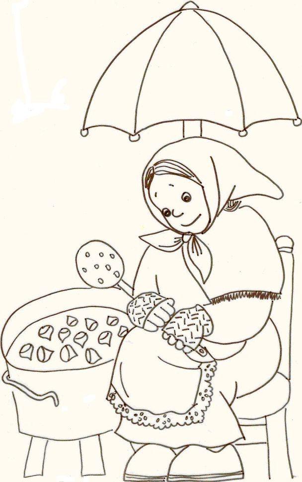 Imatge per pintar del Conte i cançó de la Castanyera. | dibuixos per ...